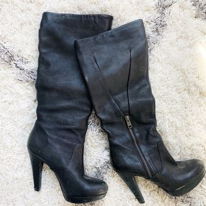 Jessica Simpson tall black leather boots